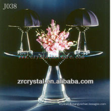 K9 Crystal Table and Table Lamp