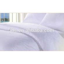 100% cotton white color fabric for hotel bedding