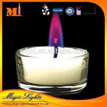 Neue Art China Professional Produce Splendid Elegante Lila Flamme Kerzen