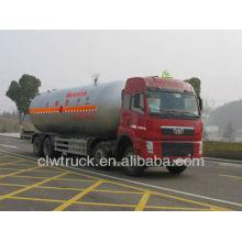 Caminhão do tanque de gás de Jiefang 8 * 4 lpg, 35.5m3 O caminhão o mais grande do transporte do LPG