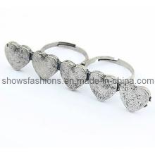 Anneau à doigts / Alliage à deux doigts Anneau plaqué antique / bijoux à la mode (XRG12066)