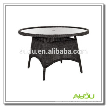 Audu mesa de comedor redonda de estilo chino con agujero paraguas