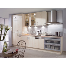 Competitive price factory directly melamine fitted kitchen cabinet