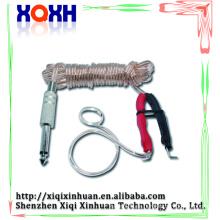 Silicona duradera Tatuaje de goma Clip Cable enchufe del cable de alimentación con RCA Para el pedal del pedal de pedal arriba hacia abajo