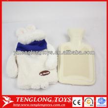Популярный дизайн мягкой кроличьей формы плюшевой крышки для горячей воды мешок