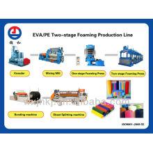 Línea de producción de hoja de espuma de Eva dos etapa