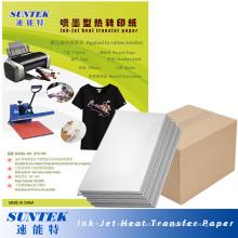 Papier de transfert de presse de chaleur de couleur foncée de jet d'encre pour le T-shirt (STC-T03)