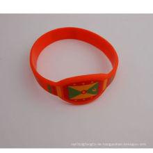 Art- und Weisesilikon-elastische Uhr-Art Armband (GZHY-SW-006)