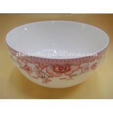 """Tazón de cerámica de china de hueso nuevo de 7 """"con calcomanía para vajilla"""