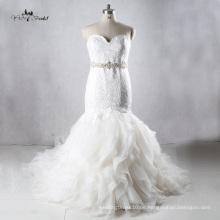 TW0179 Luxuxkristallgewebe-Rüsche-Nixe-Hochzeits-Kleider China