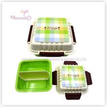 Boîte à lunch en plastique contenant des aliments avec couvercle (675ml)