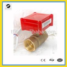 """2 vías 3/4 """"12V CR05 Válvula accionada motorizada de latón con función de realimentación de señal para la confirmación de la posición de la válvula"""