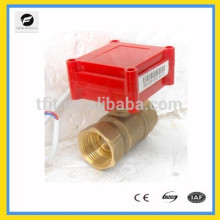 """2way 3/4"""" 12V CR05 Brass motorized operated valve with signal feedback function for valve position confirmation"""