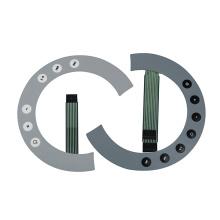 Panel de interruptor táctil capacitivo plateado