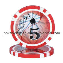 14G Classic 8 Stripe Clay Poker Chip avec autocollant laser