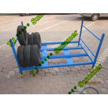 Rack de armazenamento de pneu de caminhão dobrável