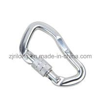 Porte-crochet en anneau de mousqueton en alliage d'aluminium avec serrure