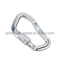 Aluminum Alloy Carabiner Hook Keychain with Lock