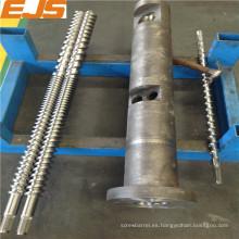 alta calidad 38CrMoAlA o barril del tornillo gemelo paralelo bimetálico