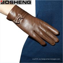 Guantes de mujer guantes de piel de oveja suave de invierno de moda
