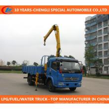 Caminhão 4X2 do suprimento de China com guindaste para a venda