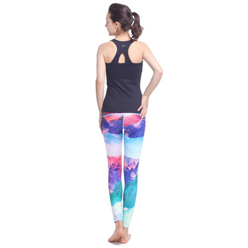 Sexiga yoga byxor gym leggings kvinnor förenade leggings