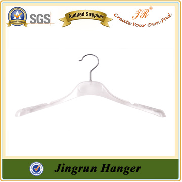 Heavy Duty Coat Hanger White Plastic Fancy Clothes Hanger