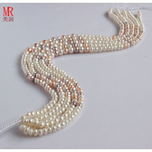 7-8-9mm Fancy Freshwater Pearl Strand Necklace (ES149-3)