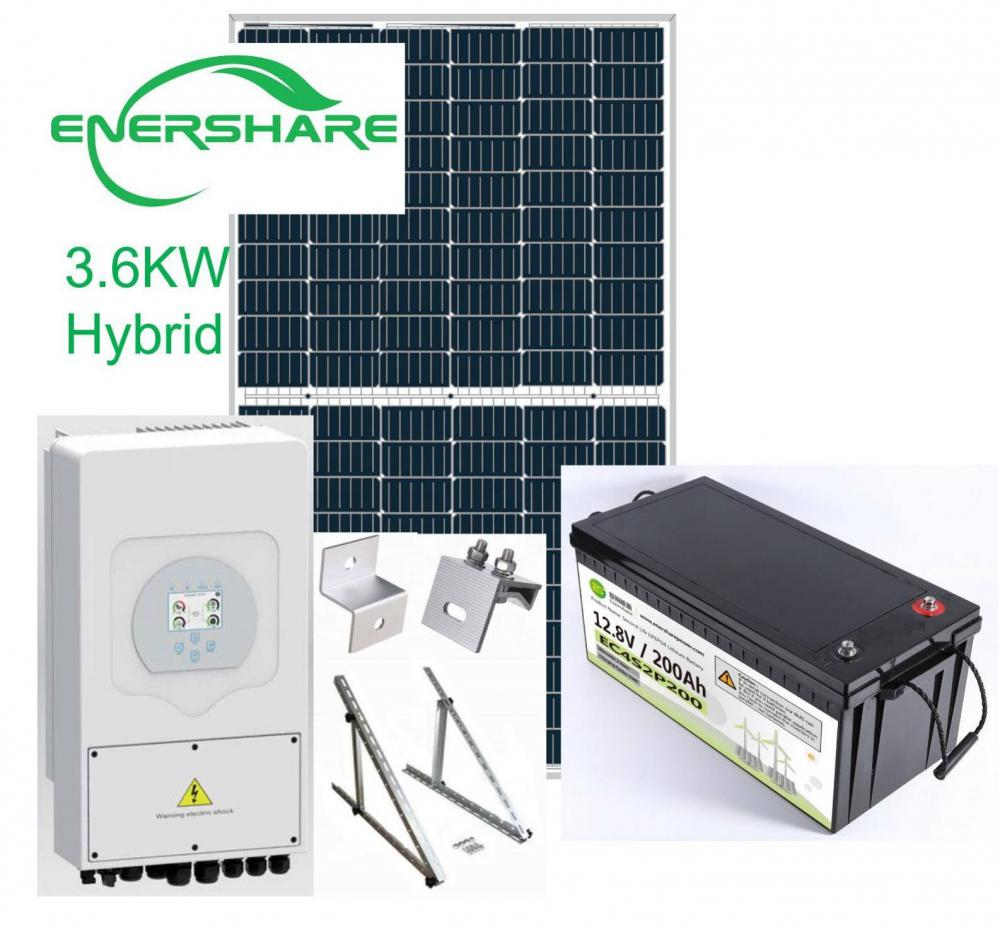 3.6kw off grid solar power system for home