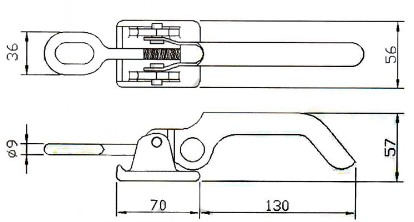 Semi-Trailer Toggle Latch Fasteners