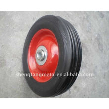 6x2 Inches Solid Rubber Wheel For Hand Truck/Wagon/Castor