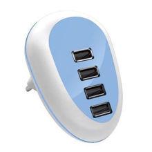 Hot sale USB estação de carregamento rápido de celular com tecnologia de detecção automática inteligente, CB / FCC / ROHS