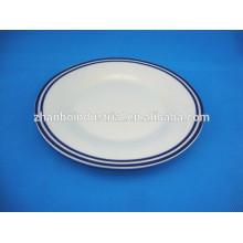 Modern Kitchen Luxury Design Paint Round Ceramic Plate