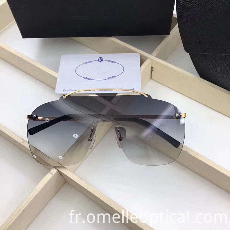 Rimless Sunglasses Mens