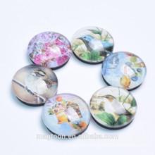 custom animal dome glass magnets for home decor