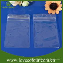 Kundenspezifischer transparenter PVC-Beutel, Kartenhalter Kunststoff