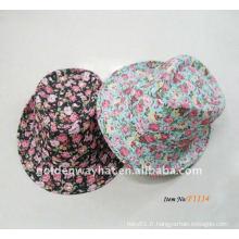 Chapeau fantaisie florale bon marché