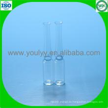 Ampolleta de vidrio tipo B estándar ISO 1ml