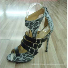 2016 Fashion High Heel Ladies Peep Toe Sandals (HCY02-144)