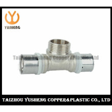 T-Joint Male Forged Brass Press Pipe Fittings (YS32010)