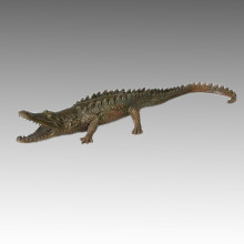 Animal Statue Crocodile / Alligator Bronze Sculpture Tpal-115