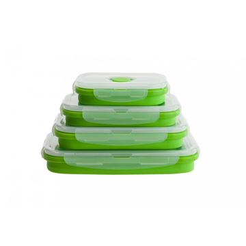 Qualidade Food Storager Silicone Folding Lunch Box