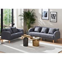 Modern Wooden Legs Living Room Furniture Fabric Sofa