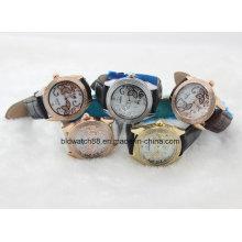2017 Reloj caliente de la venta del cuero del reloj de la manera de las mujeres del reloj del reloj
