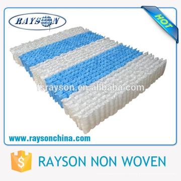 Tela no tejida de los PP de Spunbond de la venta al por mayor del precio competitivo para los muebles / el colchón