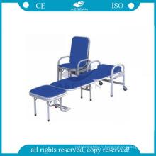 AG-AC002 avec PU housse de matelas imperméable hôpital chaise pliante chaise de couchage