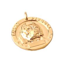 Custom Dog Tags Bulldog Bronze Name Brand Plating 24k Gold Plated Pet Dog Identity Medal