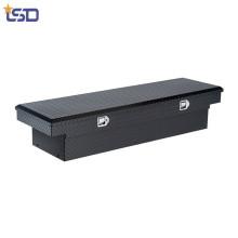 Caja de almacenamiento de herramientas de cama de camión de aluminio general cruzado