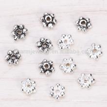 Sef024 100pc / lot s925 Accessoires en perles en argent sterling 3 mm Pendentif en espagnol en cristal argenté diamant