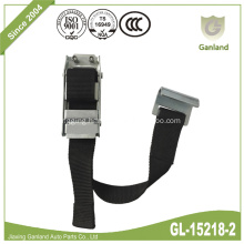 Push-Tab-Release Steel Over-center Buckle With Flat Hook